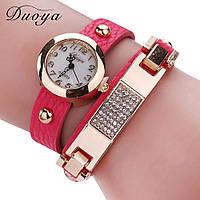 Стильные наручные часы. Розовые.