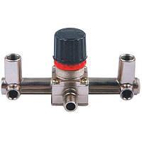 Контрольно-распределительный блок компрессора с регулятором давления Intertool PT-9091