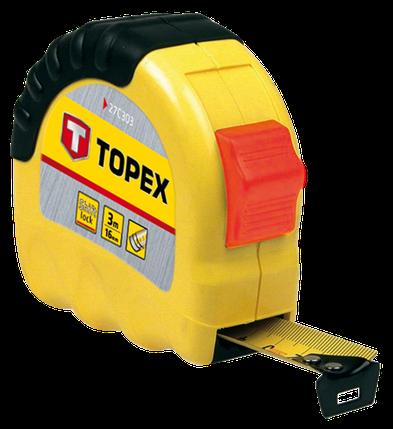 Рулетка, стальная лента 3 м x 16 мм (шт.) TOPEX (27C303), фото 2
