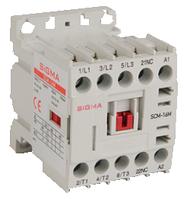 Миниконтактор 24В 3-х полюсный, доп.контакт 1НО, 2,2 kW 6А АС-3 цена купить
