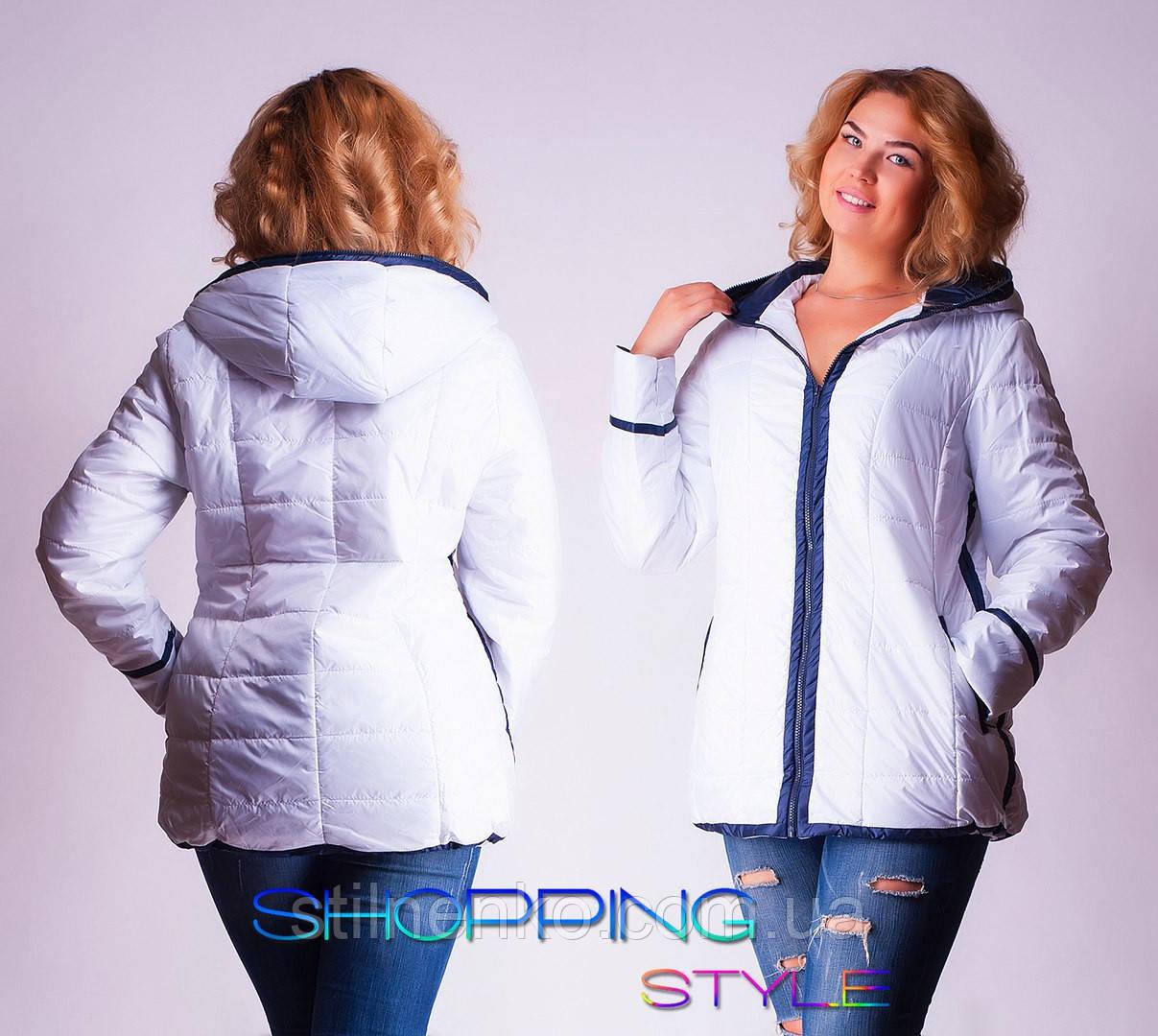 0eedf26c0105 Женская демисезонная куртка на синтепоне, большие размеры ( р 52-58 ...