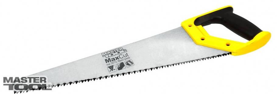 Ножовка столярная 500 мм, 4TPI MAX CUT полированная Mastertool (14-2650), фото 2