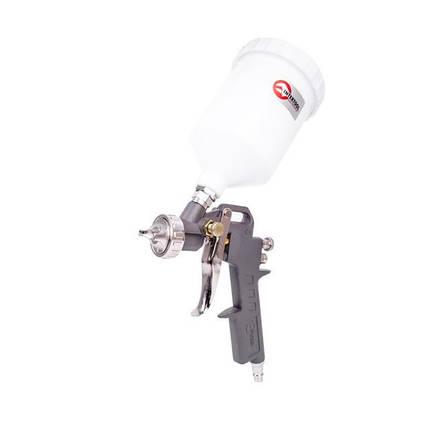 Пистолет покрасочный пневматический, форсунка 1.5мм, В/Б пластик, 600мл, 3.5-5bar. [PT-0204] INTERTOOL PT-0204, фото 2
