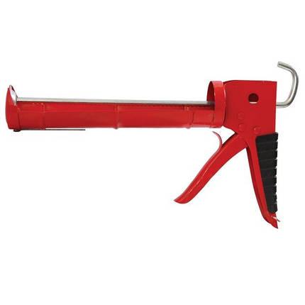 Пистолет для выдавливания силикона 225мм с обрезиненной рукояткой INTERTOOL HT-0023, фото 2