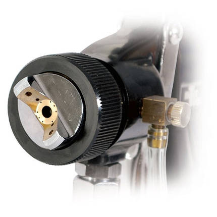 HVLP BLACK PROF Краскораспылитель 1.5мм, нижний металлический бачок регулируемой подачей давления INTERTOOL PT-0214, фото 2