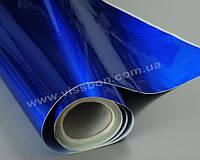 Пленка под карбон LG Chem с голограммной фактурой синего цвета