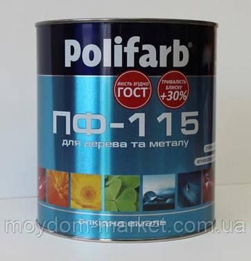 Емаль ПФ-115 ГОСТ 2,7кг яскр. блакитна Polifarb