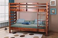 Деревянная Кровать Полуторная  двухъярусная подростковая Троя, фото 1