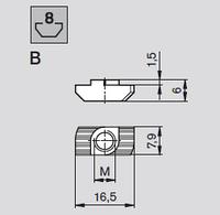 Т образная гайка под паз 8 М5