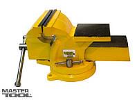 Тиски слесарные поворотные 100мм Mastertool (07-0210)