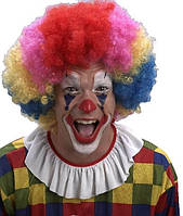 Парик разноцветный африканский. Парик клоунский.