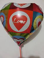Воздушные шары сердце к празднику Разные цвета