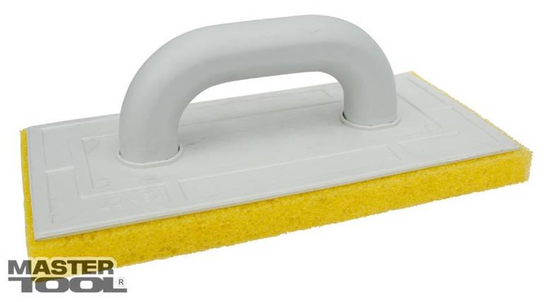 Терка пластиковая 130*270 поролоновое покрытие 20 мм желтая Mastertool (08-1323), фото 2