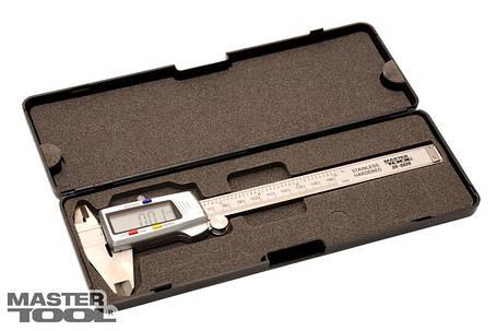 Штангенциркуль цифровой 150 мм точность 0,02 мм в футляре Mastertool (30-0628), фото 2