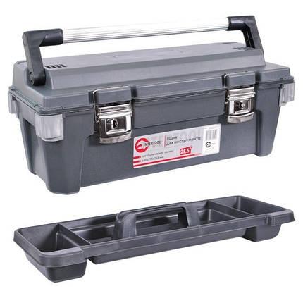 """Ящик для инструмента с металлическими замками 25.5"""" 650*275*265мм. INTERTOOL BX-6025, фото 2"""
