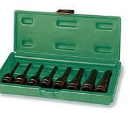 """Набор ударных головок Torx 1/2DR"""", Т30 - T80, 78 мм, 8 предметов JONNESWAY (S06A408S)"""