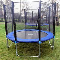 Батут для детей с сеткой и лесенкой 435 см