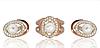 Серебряный комплект украшений с напайками золота Иллада р 18.5 в наличии.