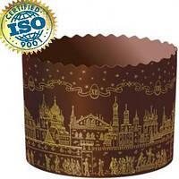 Форма бумажная для кулича ХРАМ Золотой d70xh60мм