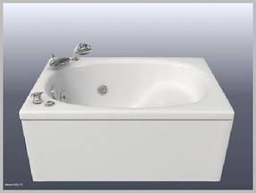 Акриловая ванна Bisante Мини 1050x700x550 с сидением