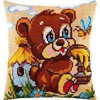 Набор для вышивки подушки Чарівниця Z-07 Мишка - сладкоежка