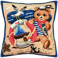 Набор для вышивки подушки Чарівниця V-05 Мишка - моряк