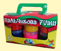 Краски пальчиковые ГАММА 322073, 6 цветов (360 мл)