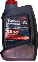 Масло Evinrude/Johnson XD-30 - для 2-х тактных подвесных двигателей 946мл