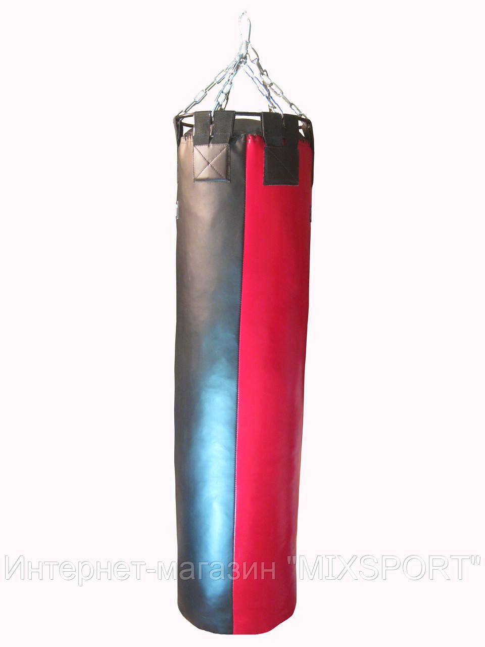 Боксерский мешок SPURT (130х40) красно/черный