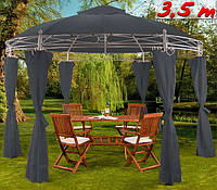 Садовый шатер - павильон 3,5м круглый , фото 1