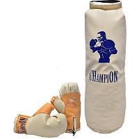 Груша боксерская большая с рукавицами 70 Х 28 см в сетке 33377