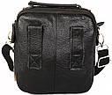Мужская кожаная сумка 30116 черная, фото 4