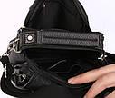 Мужская кожаная сумка 30116 черная, фото 6