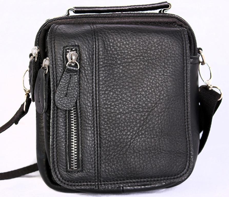 Мужская кожаная сумка 30116 черная