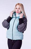 Куртка женская  на утеплителе бирюзовая