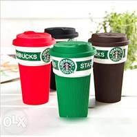 Кружка Starbucks керамика в силиконовом чехле