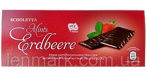 Шоколад с ментолом и клубникой Scholetta Mints Erdbeere, 300 г