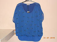 Шифоновый синий блузон, фото 1