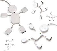 USB HUB (разветвитель) на 4 порта Человечек HB-64, белый