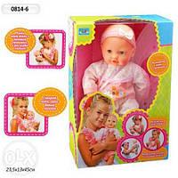 Кукла в кор-ке на бат-ке №0814-6 (8) плач, смех, сосет соску, говорит, 28х15х42см