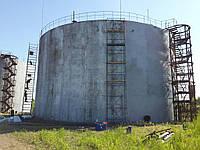 Мазут из резервуара промышленного стального вертикального цилиндрического тип РВС  :  -- обследование остатков