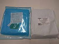 Халат хирургический одноразовый стерильный 140 см на завязках (рукав на резинке) р. L / СЛАВНА