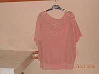 Фрезовая блуза вечерняя из шифона Dalida, фото 1