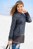 Легкая стеганая женская куртка с кашемировой отделкой