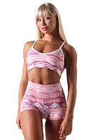 Спортивный женский топ PINK GEOMETRY X3 Berserk Sport розовый