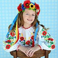 """Чарівна вишиванка для дівчинки """"Квіткова перлина"""" на зріст 98 см - 152 см"""