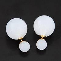 Серьги Dior. Белый кристальный