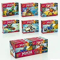 """Детский конструктор 113  1-6 """"Ниндзя го""""  6 видов, в коробке"""