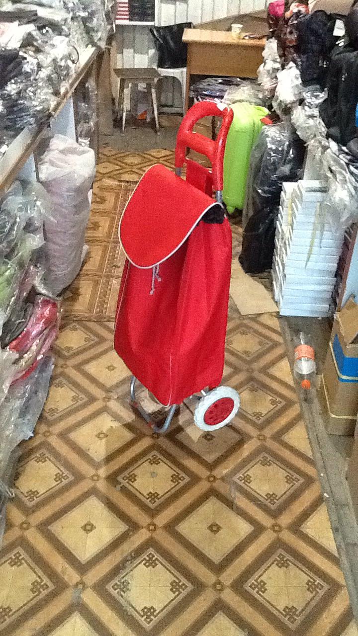 Тележка хозяйственная с сумкой на колесах