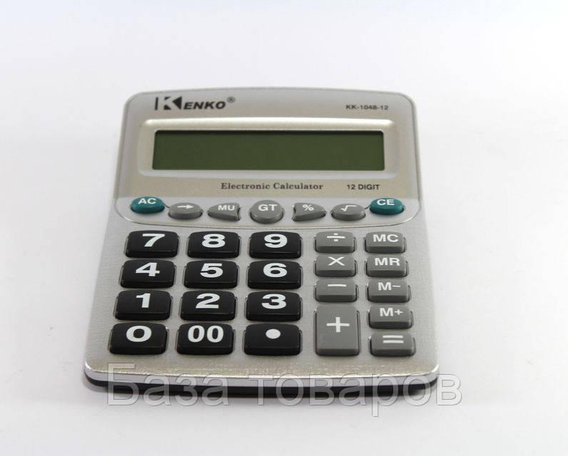 Калькулятор KK 1048, карманный калькулятор, калькулятор Kenko KK-1048-12, 12-разрядный электронный калькулятор - База товаров в Одессе